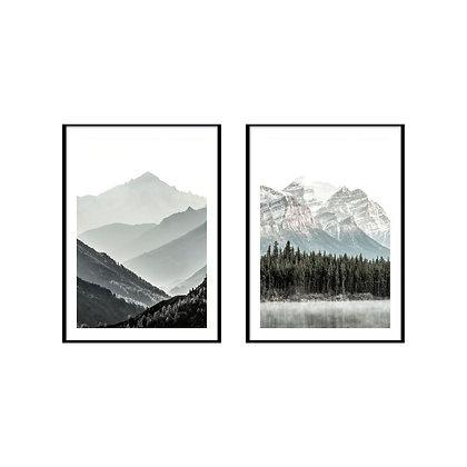 Misty Mountain Print - Set of 2 Prints