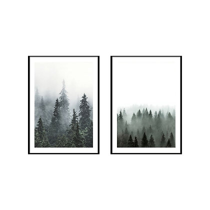 Misty Forest Print - Set of 2 Prints