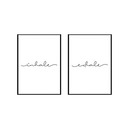 Inhale Exhale Print - Set of 2 Prints, Yoga Poster