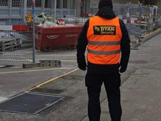 Baustellenbewachung mit Verkehrsdienst