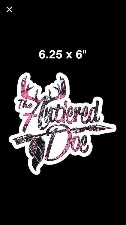Antlered Doe decal