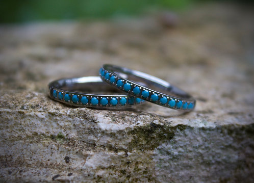 Turquoise sparkle band