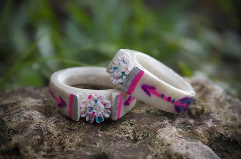florescent arrow wildflower ring