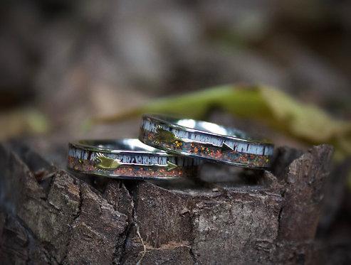 fire opal bands