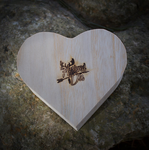 wooden heart gift box
