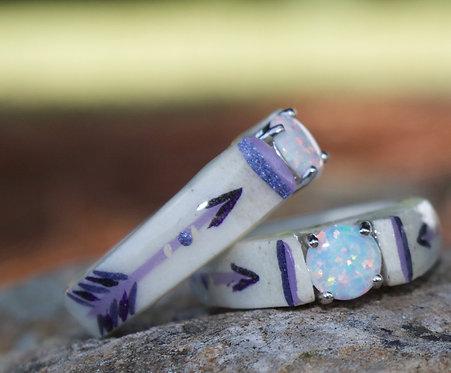 purple painted arrow opal