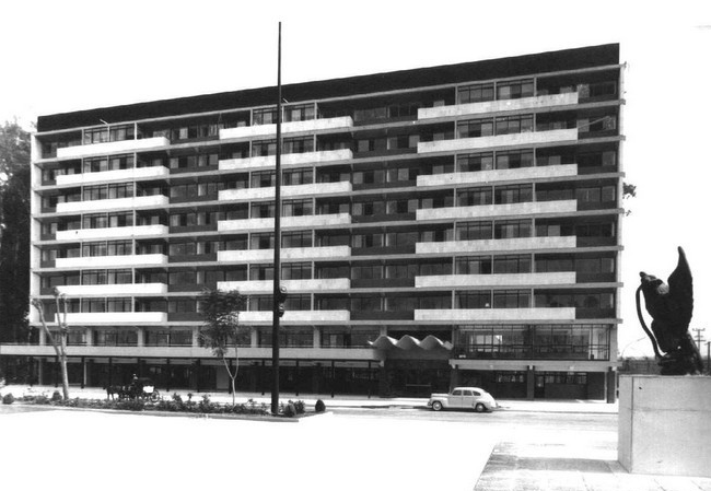 edificio Guadalupe Victoria, parque agua azul