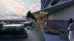 Open sky deck