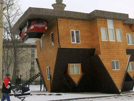 Una casa al reves es atraccion turística en Moscú
