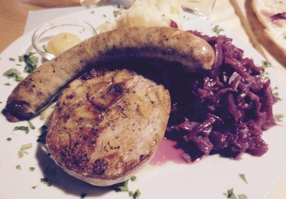 Bratwurst und Saumagen