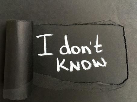 I don't know... /aɪdoʊn(t)noʊ/