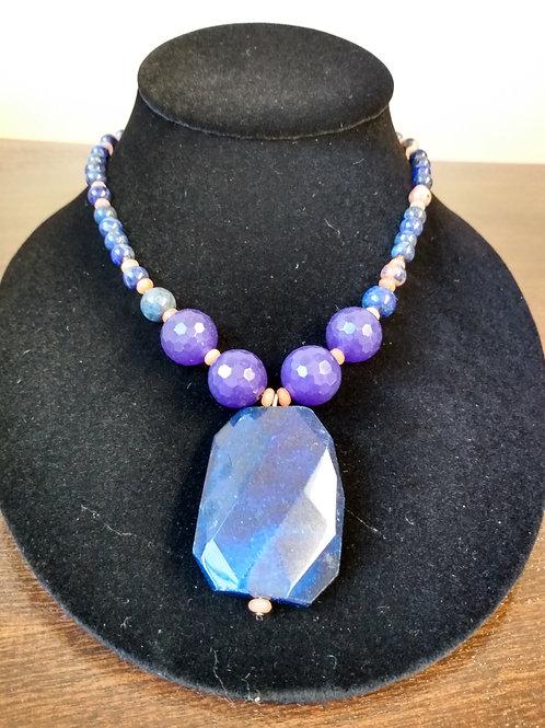 Lapis Lazuli Jasper Necklace