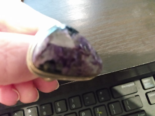 Charorite and Sterling Silver Ring