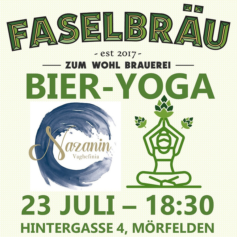 Bier-Yoga bei Nazanin Vaghefinia