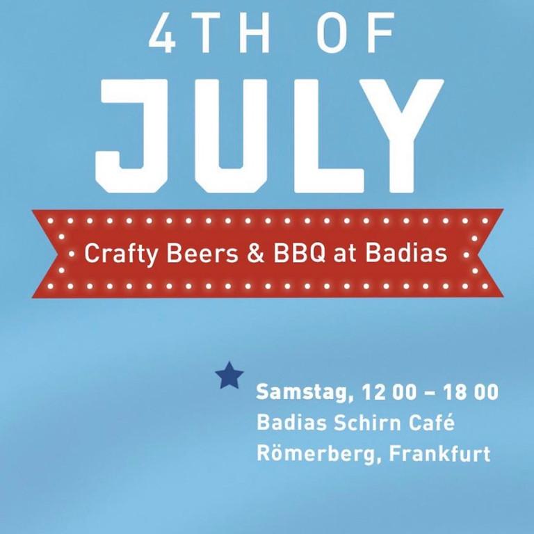 4th of July -Crafty Beers & BBQ at Badias
