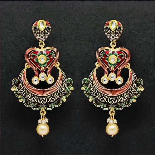 Kundan Meenakiri Earrings