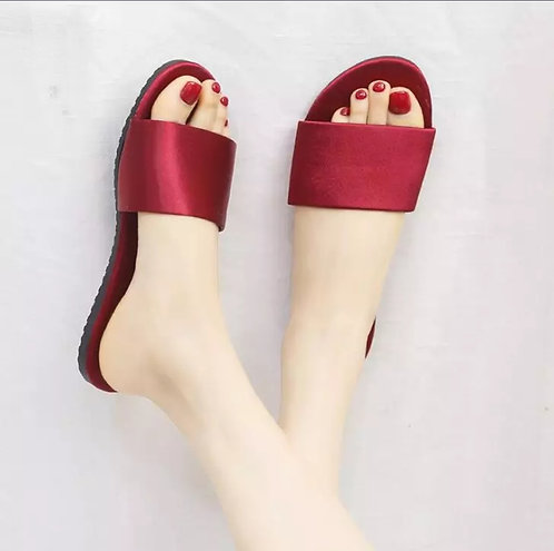 Women Silk Satin Slippers