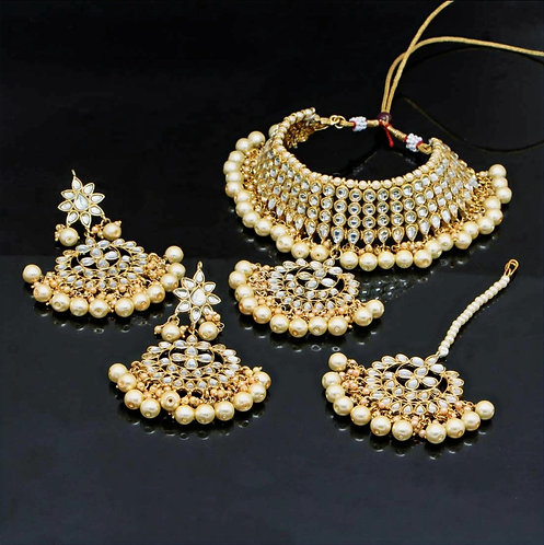 Gold Color Pearl Necklace