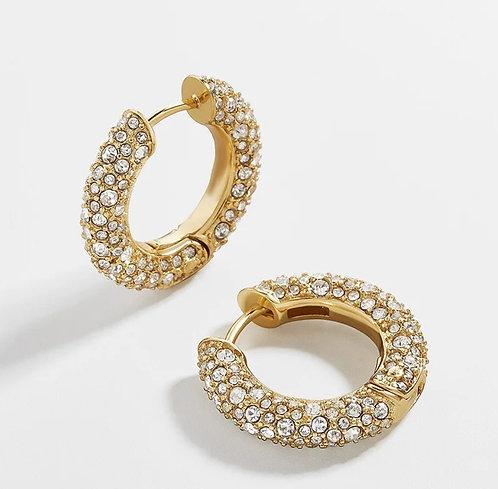 Elegant Diamond Hoop Earrings