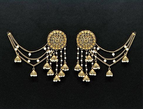 Bahbali Glass Stone Earrings