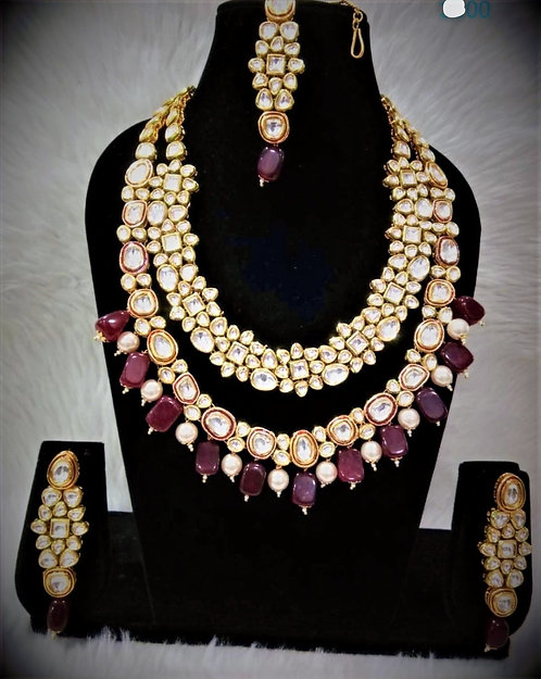 Kundan Meenakiri Necklace Set