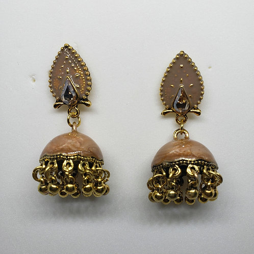 Glass Stone Meenakari Earrings
