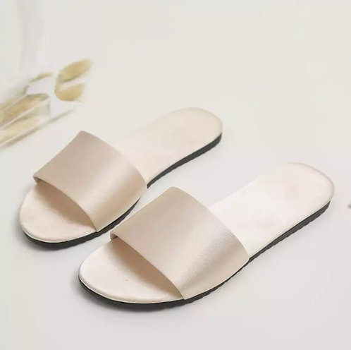 Women Silk Satin Slippers