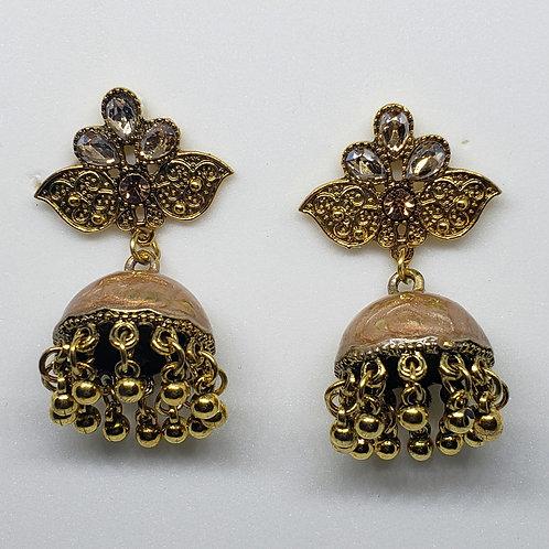 Glass Stone Meenakari Earrings