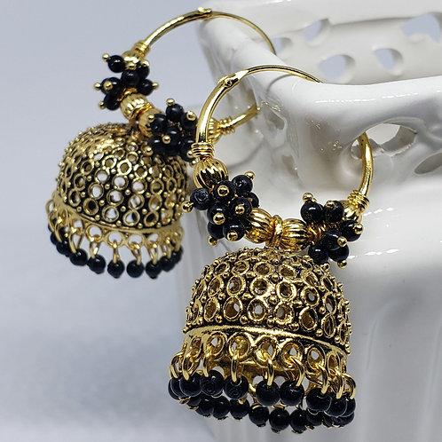 Beads Oxidized Earrings