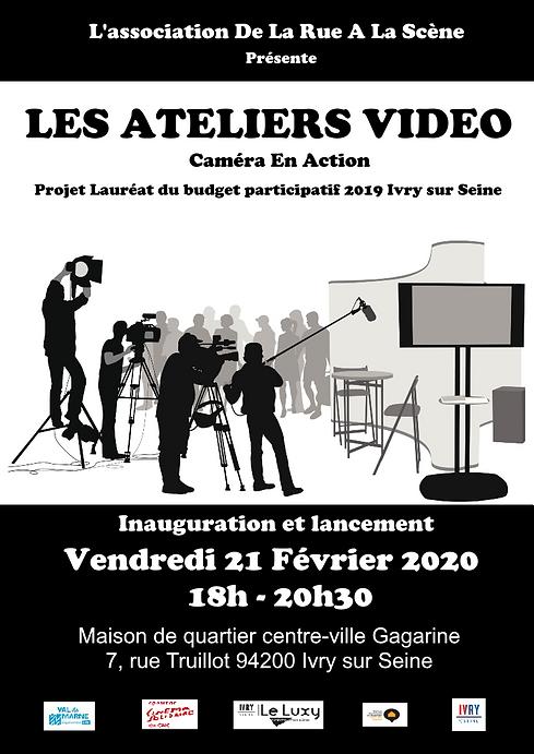 AFFICHE ATELIER VIDEO LANCEMENT DE LA RU