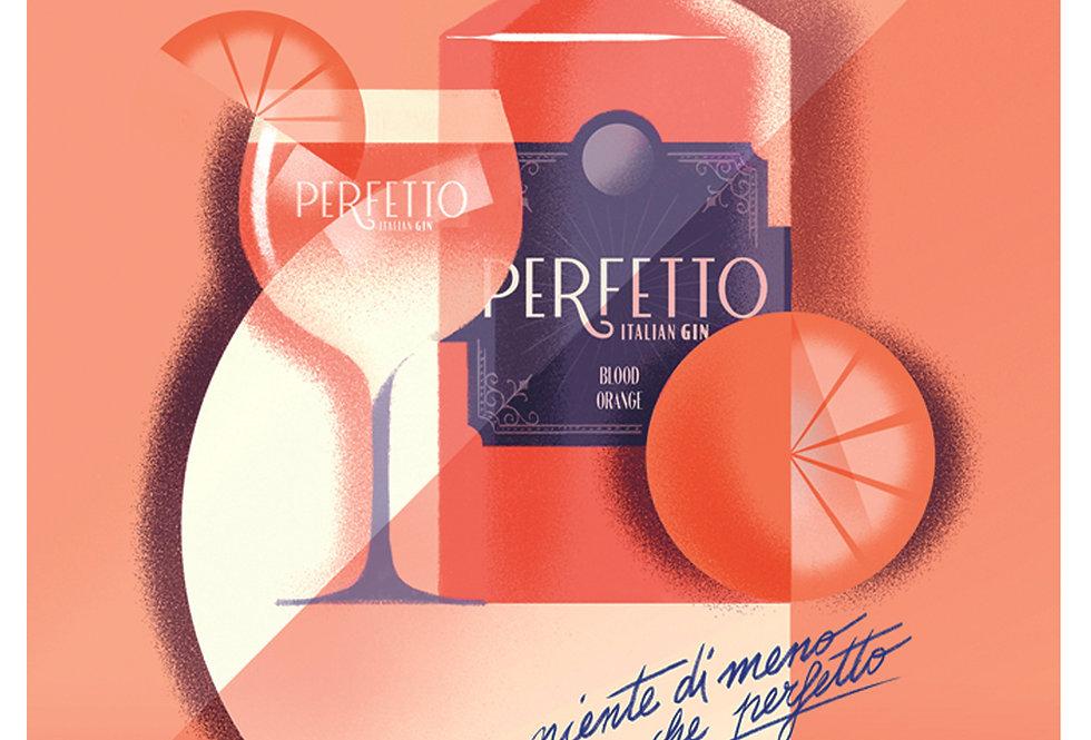 Perfetto Blood Orange Poster A3 print