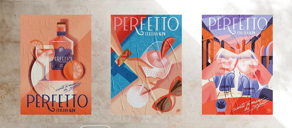 Branding Italian gin Perfetto