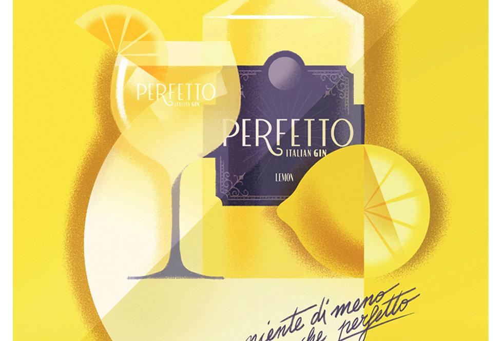 Perfetto Lemon Poster A3 print