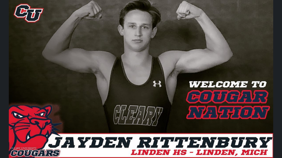 Rittenbury to join Cougar Nation