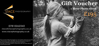 Stace photography gift voucher