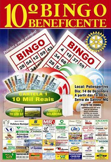 ROTARY CLUB DE SERRA DO SALITRE PROMOVE NOVO BINGO BENEFICENTE