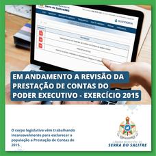 CÂMARA EMITE PARECER DE REJEIÇÃO DE PRESTAÇÃO DE CONTAS DO EXECUTIVO NO EXERCÍCIO 2015