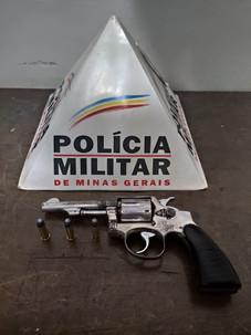 OPERAÇÃO BATIDA POLICIAL REALIZA PRISÃO POR PORTE ILEGAL DE ARMA EM SERRA DO SALITRE - MG