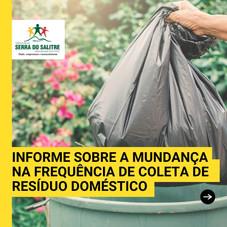 ADMINISTRAÇÃO MUNICIPAL AMPLIA FREQUÊNCIA DE  COLETA DO RESÍDUO DOMÉSTICO NA CIDADE