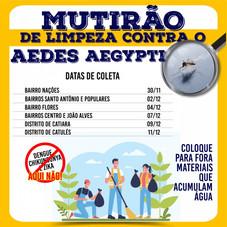 SERRA DO SALITRE PROMOVE MUTIRÃO DE LIMPEZA NO COMBATE AO MOSQUITO AEDES AEGYPTI