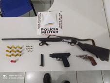 POLÍCIA MILITAR REALIZA APREENSÃO DE ARMA, SIMULACRO E MUNIÇÕES EM SERRA DO SALITRE – MG