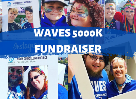 WAVES counsellors dare to complete 5000K to raise funds for free domestic abuse counselling
