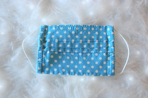 Baby Blue & White Polka Dots