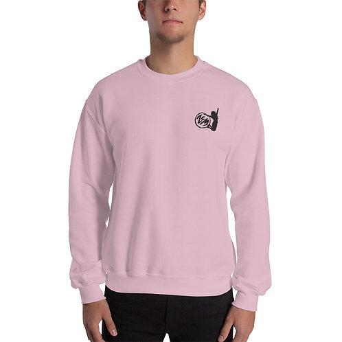 Unisex Sweatshirt - Black Logo / Bestickt