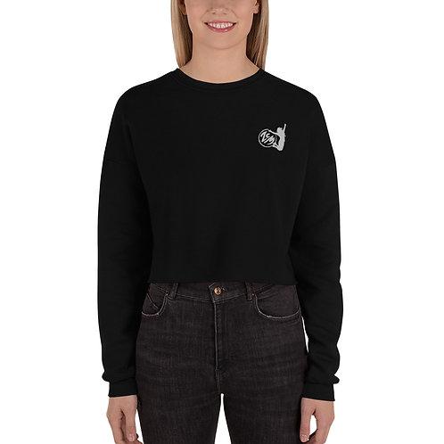 Crop Sweatshirt / Bestickt