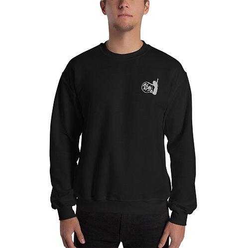 Unisex Sweatshirt- White Logo / Bestickt