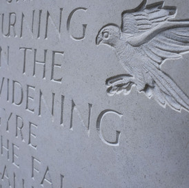 'The Second Coming' WB Yeats Inscription (detail)