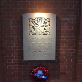 Installed memorial in Haberdashers Hall