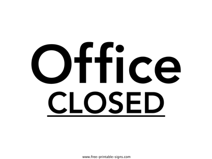 Office Opening Times Over Christmas 2020