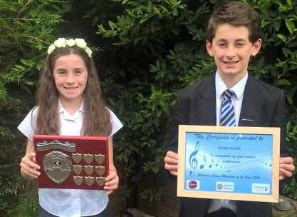 Georgina and James Win Awards at Rotherham Young Musician of the Year